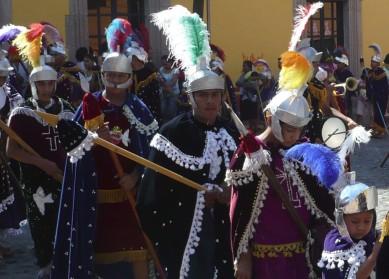 Römische Soldaten in Reih und Glied